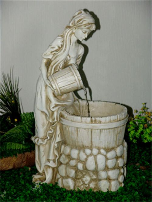 西方小女孩玻璃钢雕塑