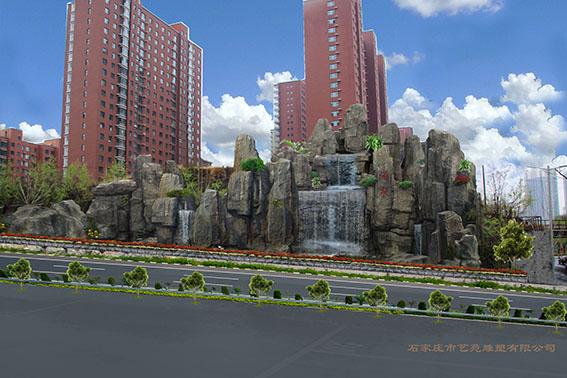 湖南山体护坡假山浮雕绿化制作项目